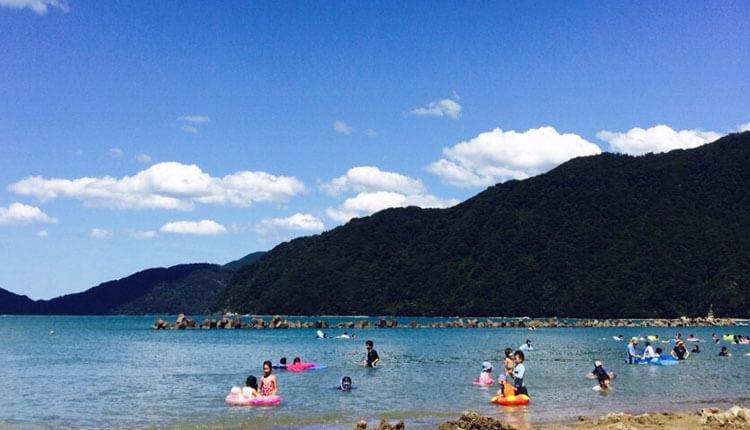 京都・舞鶴の神崎海水浴場